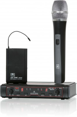 EDX Professional Dual Channel Wireless Mic System (UHF)