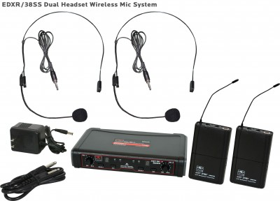 EDX Wireless Dual Headset Microphone System