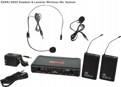 EDX Wireless Headset and Lavalier Mic System