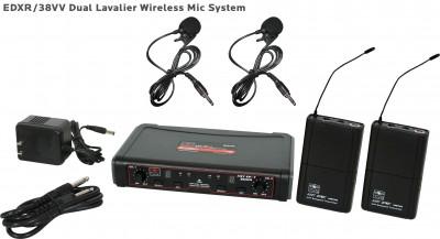 EDX Wireless Dual Lavalier Microphone System