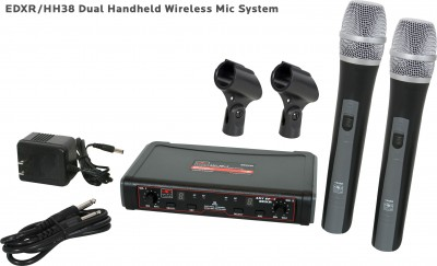 EDX Wireless Dual Handheld Microphone System