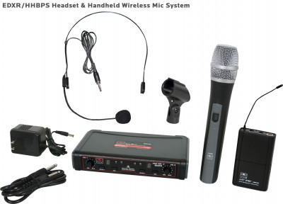 EDX Wireless Handheld and Headset Mic System