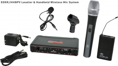 EDX Wireless Handheld and Lav Mic System