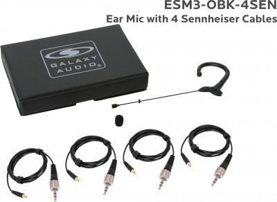 Black Omni Ear Microphone with 4 Sennheiser Cables