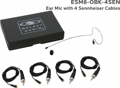 Black Omni Ear Directional Microphone with 4 Sennheiser Cables