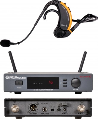 Evo Wireless Mic System with Front and Back Scan16 Receiver