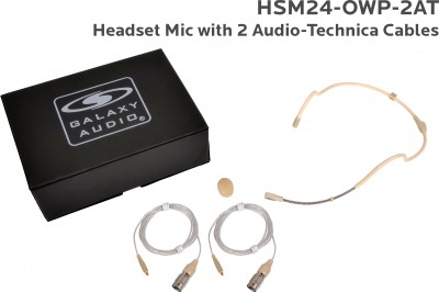 Waterproof Headset Mic System with Audio-Technica Cables