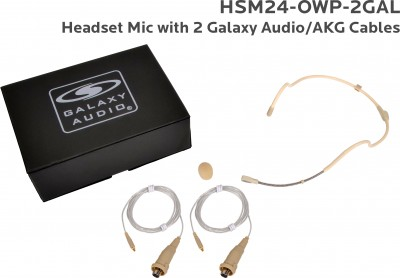 Waterproof Headset Mic System with Galaxy Audio/AKG Cables