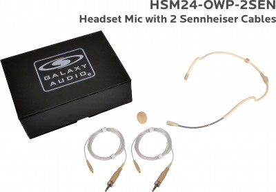 Waterproof Headset Microphone System with Sennheiser Cables