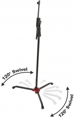 Swivel microphone stand