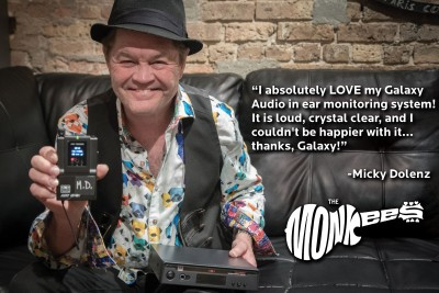 Micky Dolenz with The Monkees using the Galaxy Audio AS-1800 Wireless Personal Monitor