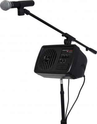 PA system stand and mic