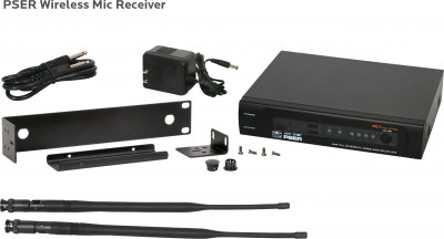 PSE Wireless Mic Receiver and components