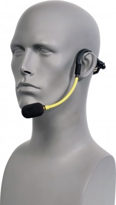H2O7 Yellow Fitness Mic on Gray Head