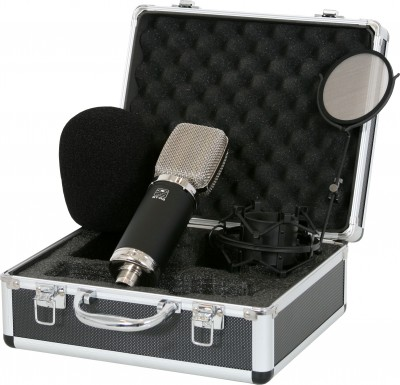 ST-R3 recording microphone with case and mount