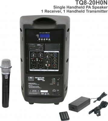 TQ8 Single Handheld Mic System N2 Frequency Back