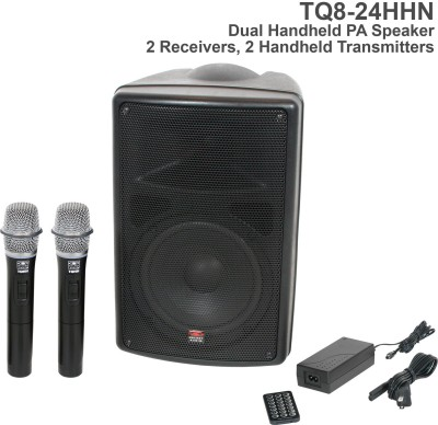 TQ8 Dual Receiver Handheld Microphone PA Speaker Front