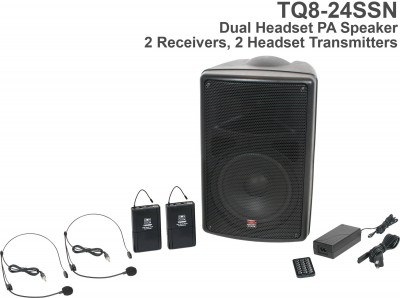 Wireless TQ8 Dual Receiver Headset PA System Front