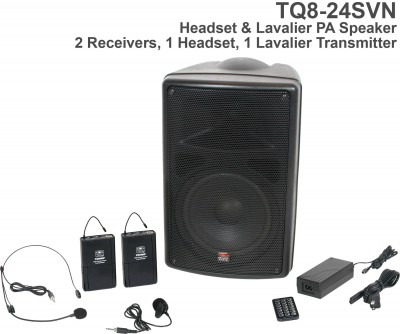 Traveler Quest 8 Headset and Lav Portable PA System Front