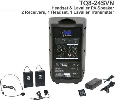 Traveler Quest 8 Headset and Lav Portable PA System Back