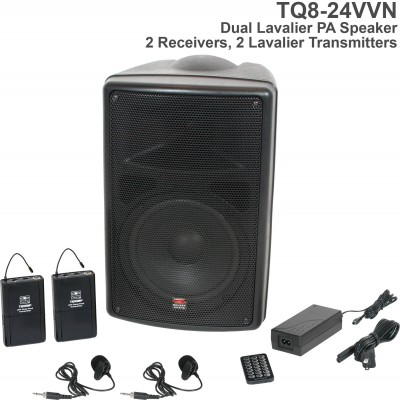 TQ8 Dual Lavalier Wireless PA Speaker System Front